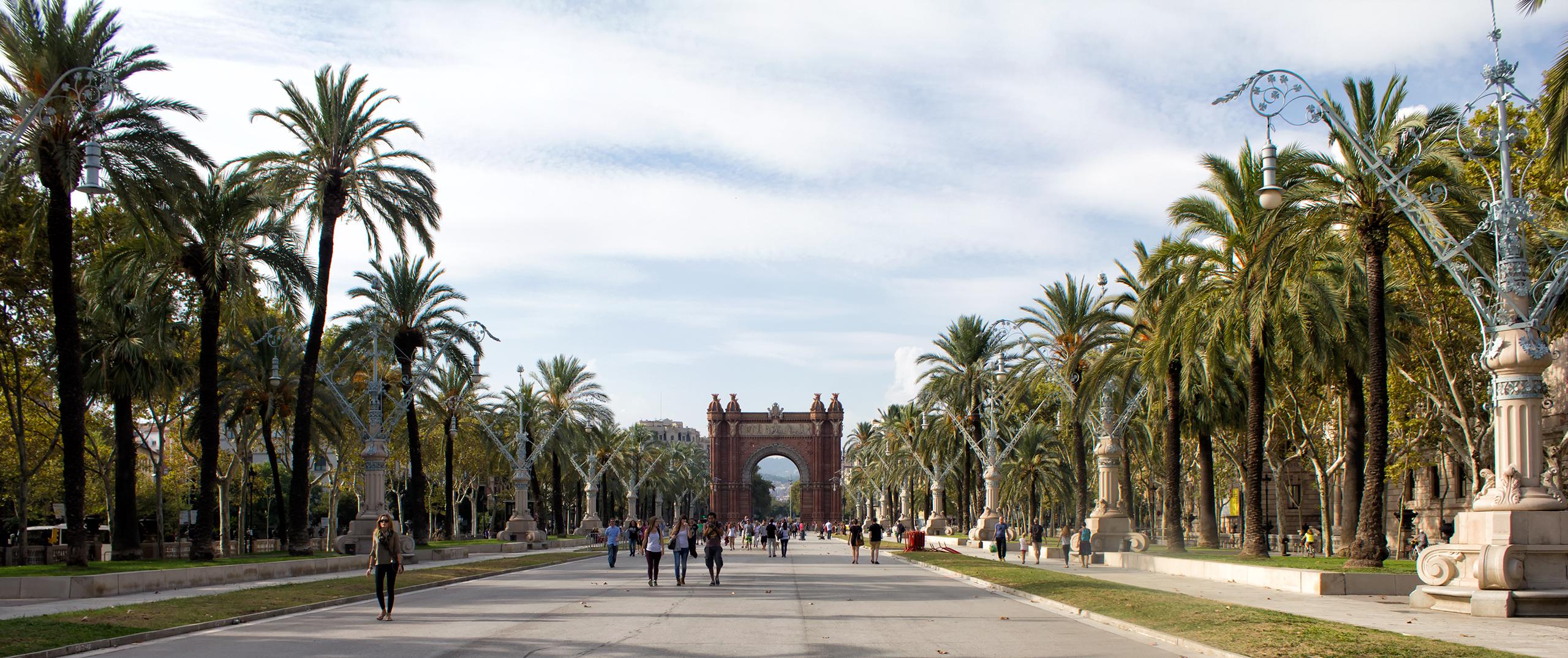 Триумфальная арка в Барселоне Barcelona