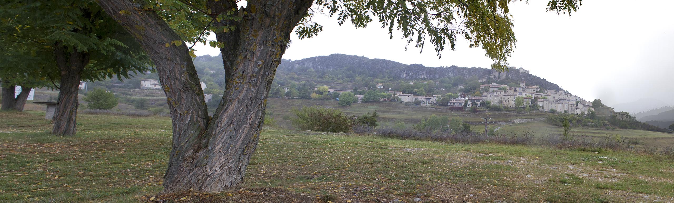 Панорама по пути к Вердонскому ущелью Gorge du Verdon
