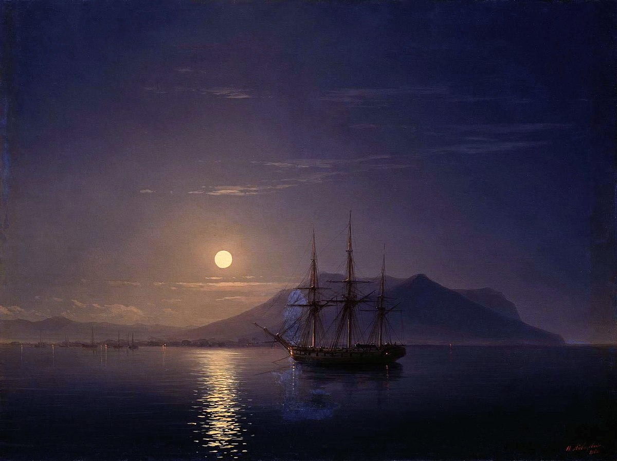 "Anti-Crisis Strategic Consulting • A Metaphor with Ivan Aivazovsky's painting ""A Sailboat off the Coast of the Crimea on a Moonlit Night"""