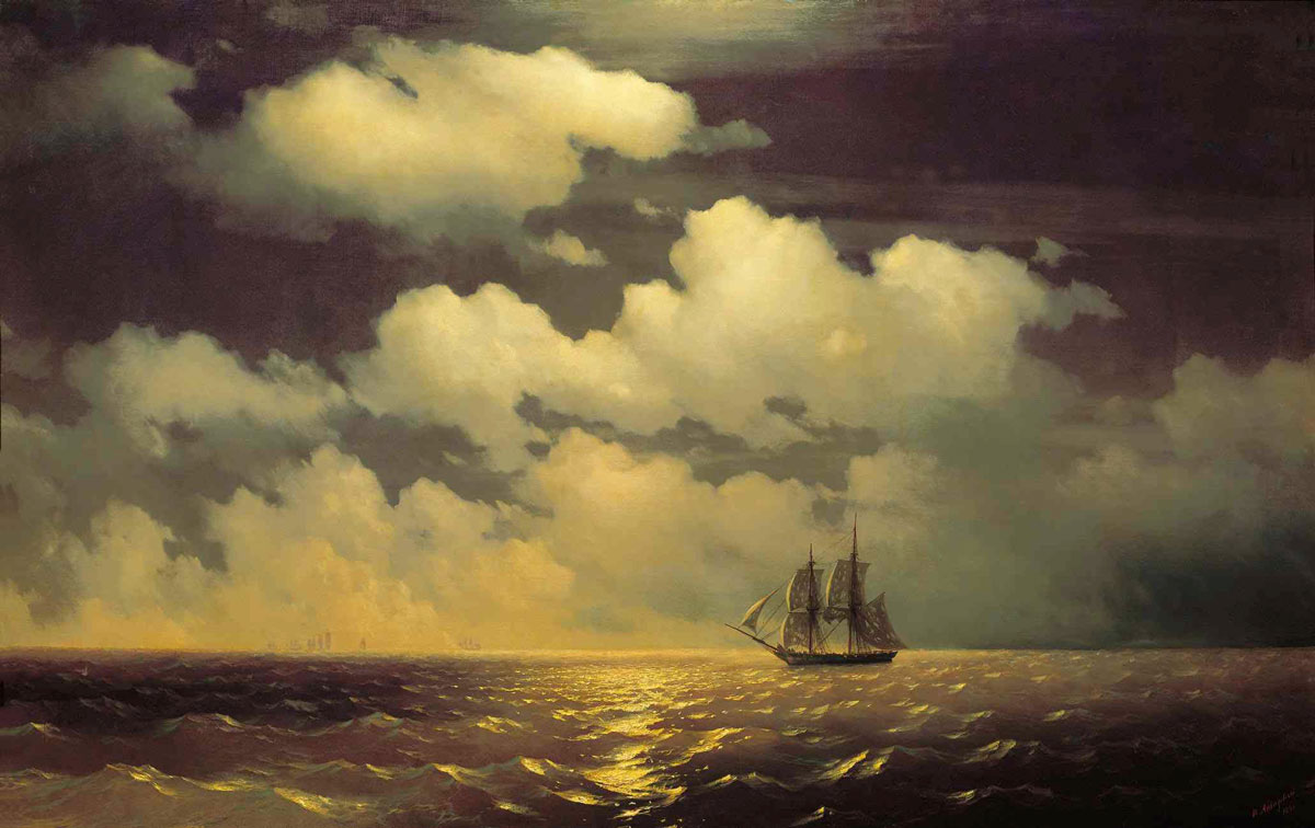 "Anti-Crisis Strategic Consulting • A Metaphor with Ivan Aivazovsky's painting ""Brig Mercury Meets with a Russian Squadron After the Victory over two Turkish Ships"""