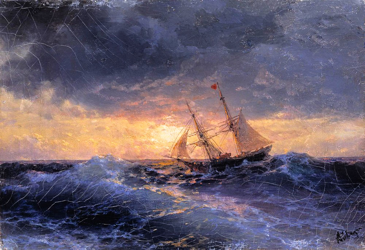 "Anti-Crisis Strategic Consulting • A Metaphor with Ivan Aivazovsky's painting ""The sea. Sunset"""