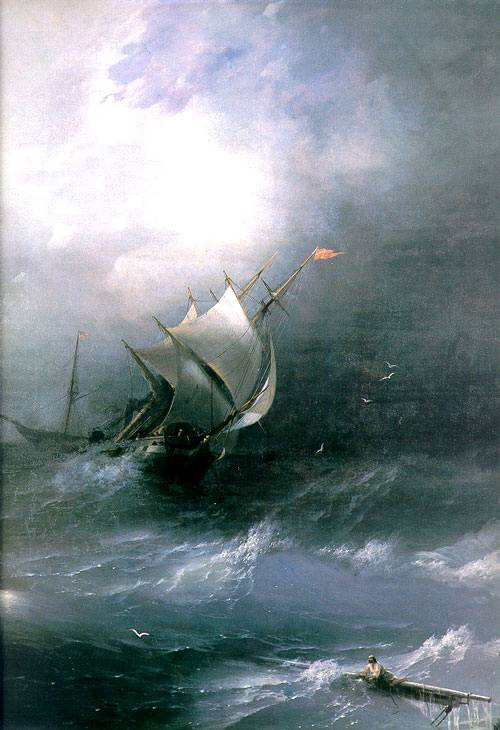 "Anti-Crisis Strategic Consulting • A Metaphor with Ivan Aivazovsky's painting ""Shipwreck on the North Sea"""
