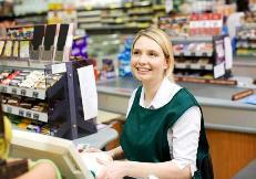 Кассир в супермаркете