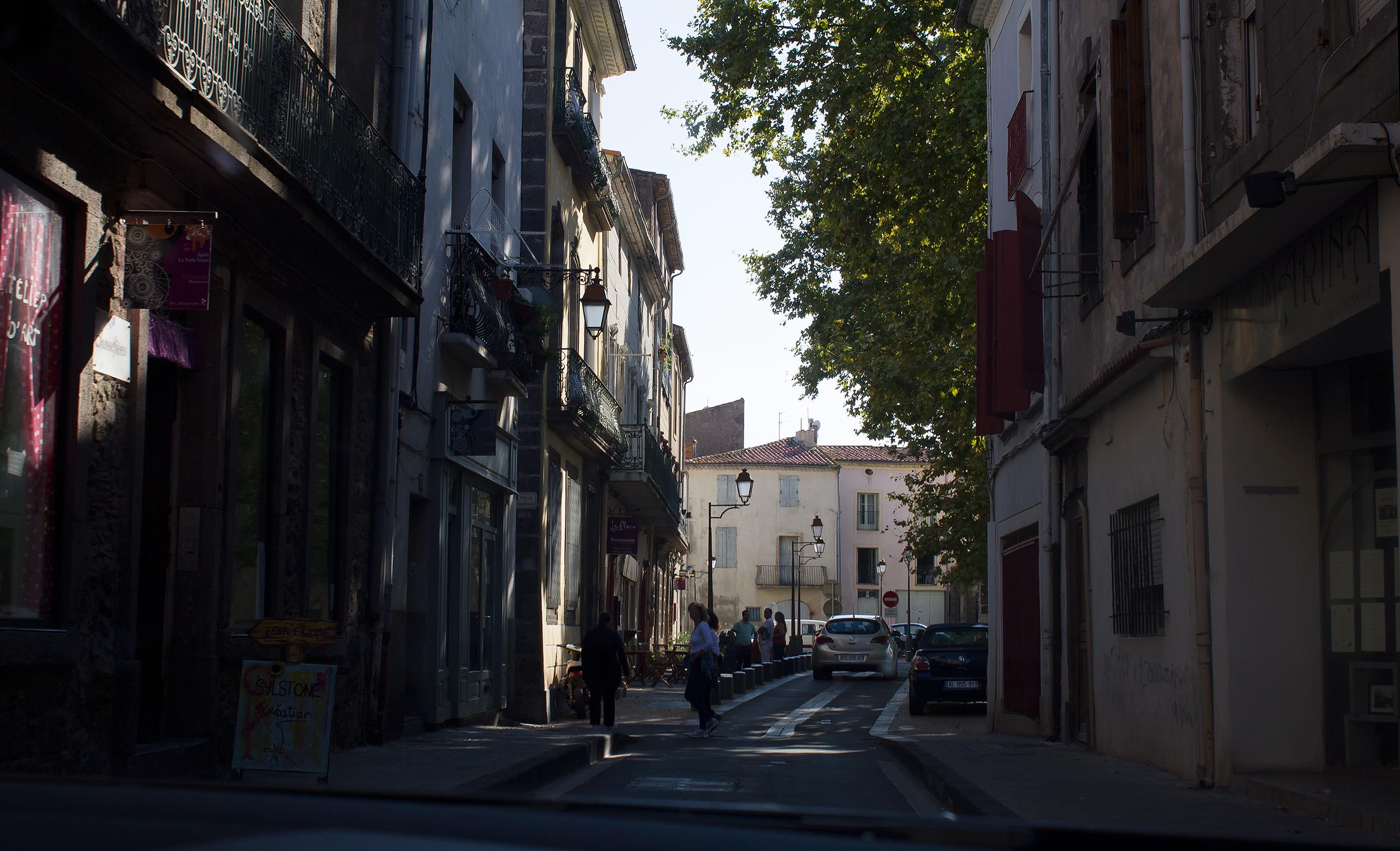 Французский городок на побережье Средиземного моря